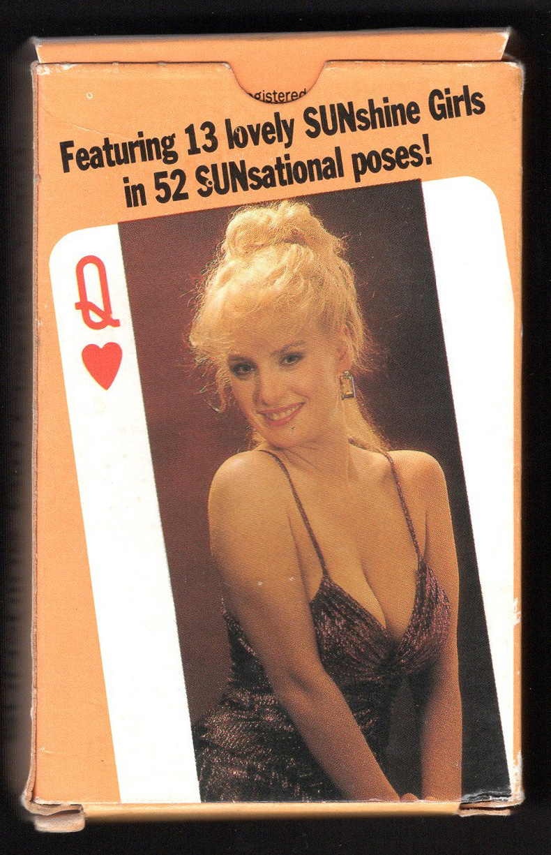 PLAYING CARDS NEW PACK.54 BEAUTIFUL LADIES.sealed.semi-nude.... The Sun.PAGE 3