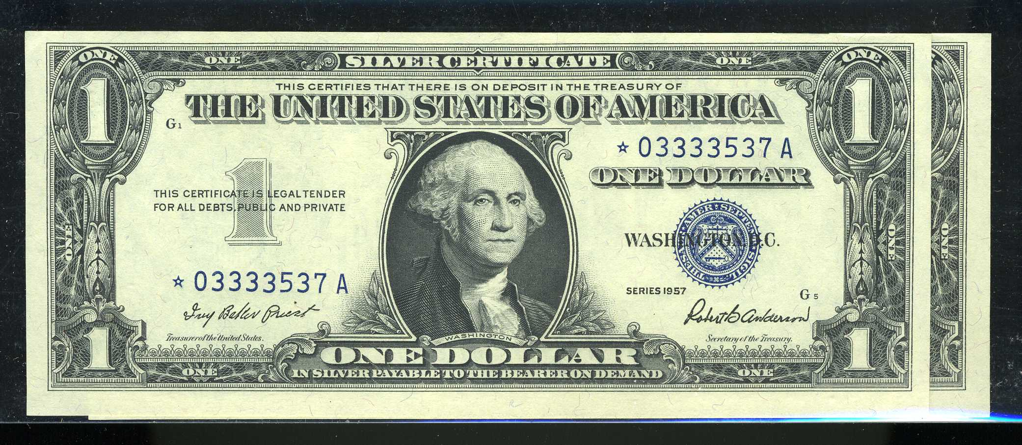 Silver Certificate Small Size 100 1957 Series