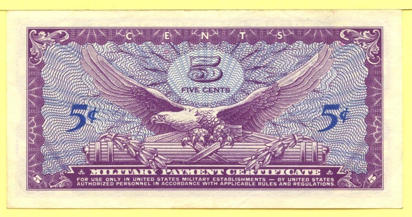 Military Payment Certificates Series 641 1965 1968